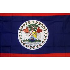 Belize Country Flag Banner Sign 3' x 5' Foot Polyester Grommets