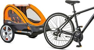 Instep Quick-N-EZ Double Tow Behind Bike Trailer Converts to Stroller/Jogger ...