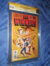 ALL WINNERS COMICS #19 CGC 9.6 SS Signed Allen Bellman (Captain America/Timely)