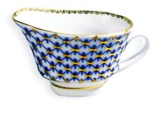 Lomonosov Cobalt Net Gravy Boat GENUINE RUSSIAN AUTHENTIC LIMITED LEFT