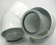 Glowworm 45 Degree Flue Bend (Pair) For Condensing Boilers 60/100 2000460485