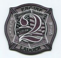 Charlotte Fire Department Station 2 Patch North Carolina NC v2 Subdued