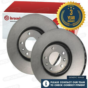 Brembo Front Vented Brake Disc Pair Honda Jazz 2008-2019