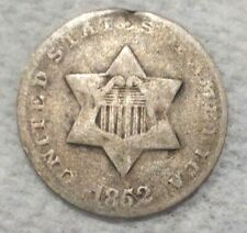 1852 United States Three Cents .750 Silver Coin
