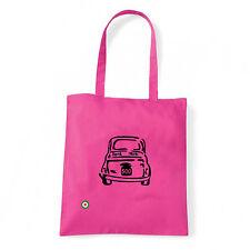 Art T-shirt, Borsa shoulder 500 Fiat, Fucsia, Shopper, Mare