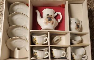Hermann Bavarian Bear Roehler Childs LE Porcelain Tea Set Made in Germany 12pc