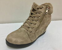 Ex New Look Taupe Inner Wedge Lace Up Boots Variety Sizes