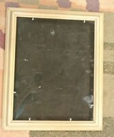 "Vintage Rectangular Wood  Frame with Easel  16-3/4""  X 13-3/4"""