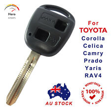 Toyota Key Shell/Case Corolla Yaris Prado RAV4 Echo Blank Two Button no Logo