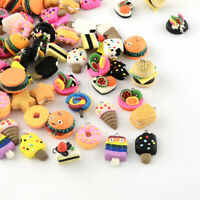 100x Platinum Handmade Food Polymer Clay Pendants Charm Mixed 17~29x13~20x7~21mm