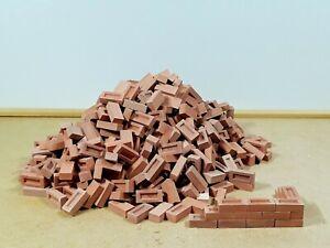 500 1:12 scale bricks in light grey - dolls house, diorama, model railway