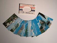 1969 Capsco 10 Color Mini Sm Photos Prints Washington DC US Capital Post Cards