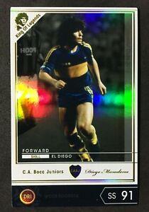 2019 Panini Footista WCCF Legends Diego Maradona Boca Juniors refractor card