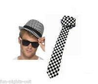 Ladies Ska Night Sets Hat Tie Braces Socks Glasses 70's 80's Madness Fancy Dress
