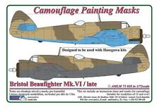 AML 1/72 Bristol Beaufighter mk.x motivo mimetico Maschere per verniciatura #