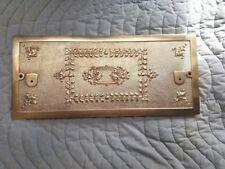 National Cash Register Brass Top for  Flat Top Crank Register