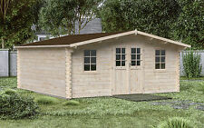 44 mm Gartenhaus 500x500 cm Gerätehaus Blockhaus Holzhaus Restposten Hütte Holz