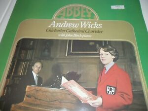 Andrew Wicks Chichester Cathedral Chorister John Birch 1977 LP Abbey LPB 778