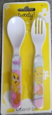 Plastic spoon & fork set for Kids 3 years and up~Tweety Bird