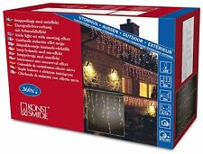 Christmas Konstsmide Outdoor 360 Icicle 10m incandescent String Lights Snowing