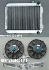 Aluminum Radiator&fans for TOYOTA Corolla AE71 AE72 1979-1983 FA/32/AT 80 81 82