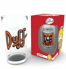 The Simpsons Duff Beer Official Licenced 500ml Large Glass GLB006 NEW BOXED