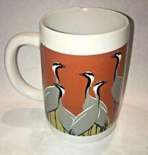 "A vintage Otagiri Tom Taylor CRANES ""Poem"" Gift of Nature Mug Cup"