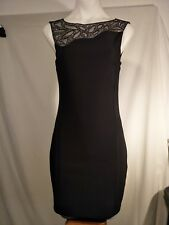 TEMT Ladies Stretch Dress in Black with Beaded Relief Size S