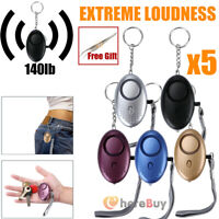5x Self Defense Alarm 140dB Alert Keychain Safety Personal Security for Women