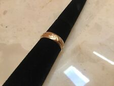 14K Solid Yellow Gold Curved Wedding Band Ring Size 9.25 - Excellent