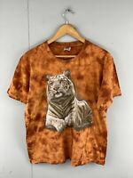 Rock Eagle Men's Short Sleeve Tiger T Shirt - Size Large Orange