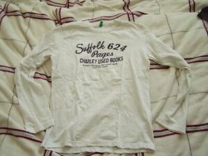 * Cooles weißes Langarm T-Shirt Benetton Gr. 152 - Jungs *