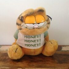 RETRO Moneybox GARFIELD DOLL PLUSH TOY WITH TAGS LARGE Money Box Bank