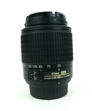 Nikon 55-200mm f4-5.6G ED Auto Focus-S DX Nikkor Zoom Camera Lens Untested