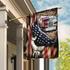 Truck Driver American Flag 29.5�x39.5�/11.5�x1 7.5� Polyester Resistant Flag