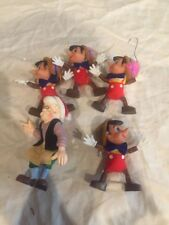 VINTAGE WALT DISNEY'S PINNOCHIO  CHRISTMAS ORNAMENT UNION WADDING Lot Geppetto