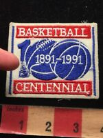 Vtg (As-Is / Bad Stitch) 1991 BASKETBALL CENTENNIAL 100 YEARS Patch 86N5