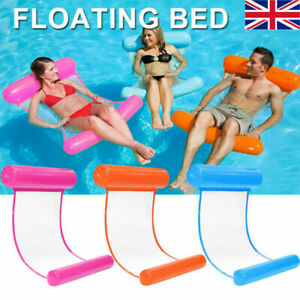 Inflatable Floating Water Hammock Float Pool Lounge Bed Swimming Chair Hot Beach