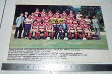 CLIPPING POSTER FOOTBALL 1987-1988 FC ROUEN ROBERT-DIOCHON DIABLES ROUGES
