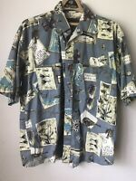 Browning Mens Fishing Shirt XL Tackle Hawaiian Sports Sportsman Short Sleeve