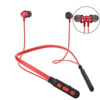Magnetic Bluetooth Headphone Neckband Wireless Sport Earphone Stereo Headset Mic