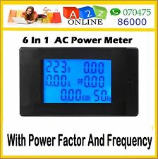 6 In1Digital Meter(AC110-260V/20A)Ammeter/Voltmeter/Power Meter/Energy/PF/Freque