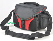 Red portable Camera Photo bag Case For DV Canon EOS Rebel JVC Nikon Olympus