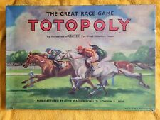 """Vintage """"TOTOPOLY"""" Horse Racing Game By Waddingtons 1949.Damaged & incomplete."""