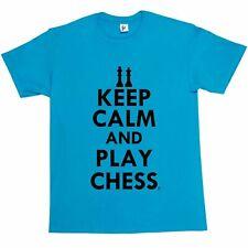 Keep Calm & Play Chess - King & Queen Mens T-Shirt