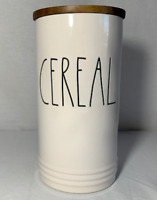 Rae Dunn CEREAL Cellar Wood Lid Canister (Brand New)