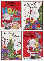 CHRISTMAS LETTER TO SANTA GREETING CARD 4 DESIGNS TO CHOOSE FROM 1ST P&P
