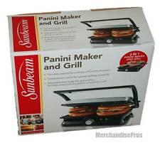 SUNBEAM PANINI SANDWICH MAKER GRILL NON-STICK  NEW IN BOX!