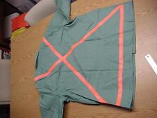 Vintage Guard-Line XXX-LG Green Twill Florescent Orange Safety Jacket Proban NOS