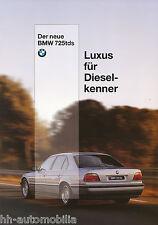 BMW 725tds E38 Prospekt 1996 brochure catalog prospectus 6 11 07 05 10 1 1996